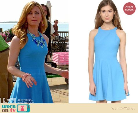 Elizabeth & James Blue Magdelena Dress worn by Brooke D'Orsay on Royal Pains