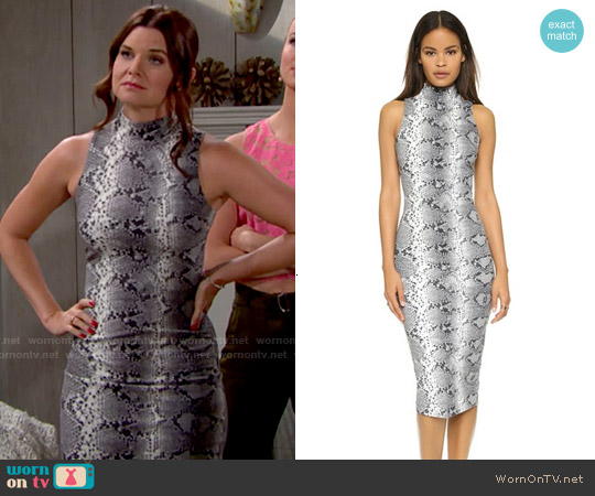 Elizabeth & James Boa Dress worn by Heather Tom on The Bold & the Beautiful