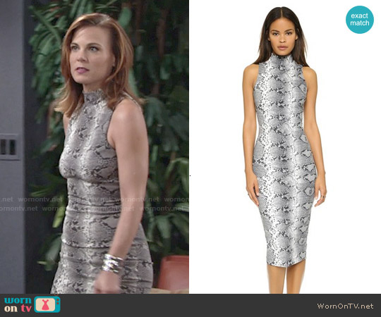 Elizabeth & James Boa Dress worn by Gina Tognoni on The Young & the Restless