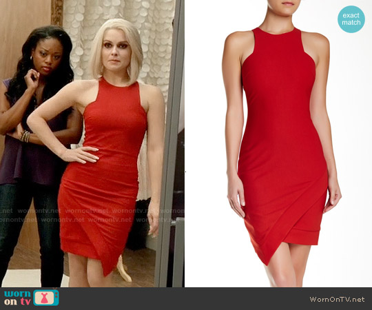 Elizabeth & James Claire Dress in Red worn by Rose McIver on iZombie