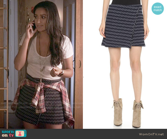 Elizabeth & James Daniella Skirt worn by Shay Mitchell on PLL