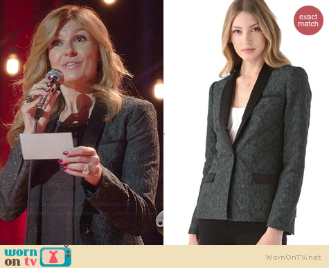 Elizabeth & James Dexter Lace Blazer worn by Connie Britton on Nashville