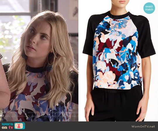 Elizabeth & James Erato Silk Blouse worn by Ashley Benson on PLL