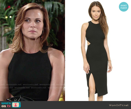 Elizabeth & James Giulia Side Slash Dress worn by Gina Tognoni on The Young & the Restless