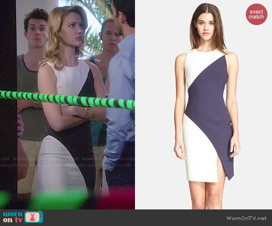Elizabeth & James Klein Colorblock Sheath Dress worn by Yael Grobglas on Jane the Virgin