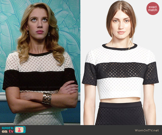 Elizabeth & James Leda Lattice Top worn by Yael Grobglas on Jane the Virgin