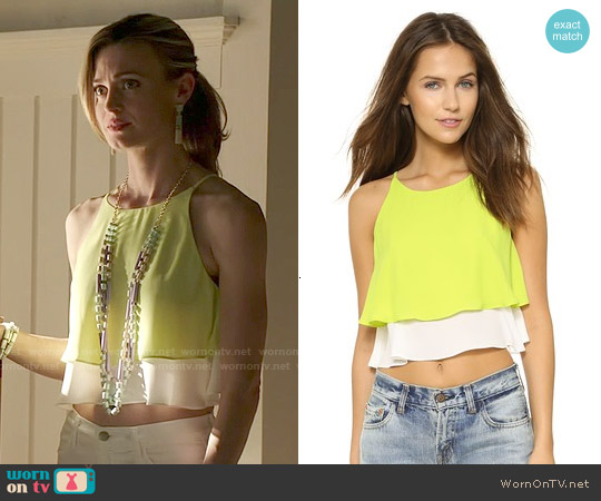 Elizabeth & James Lila Crop Top worn by Brooke D'Orsay on Royal Pains