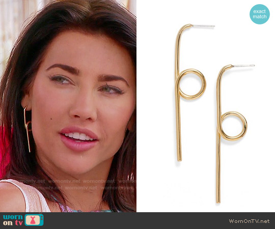 Elizabeth & James Luda Drop Earrings worn by Steffy Forrester on The Bold & the Beautiful