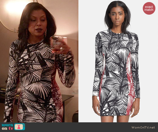 Elizabeth & James 'Mailyn' Palm Print Body-Con Dress worn by Taraji P. Henson on Empire