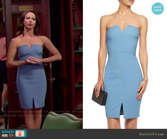 Elizabeth & James Naveen Dress in Mineral Blue worn by Ashleigh Brewer on The Bold & the Beautiful