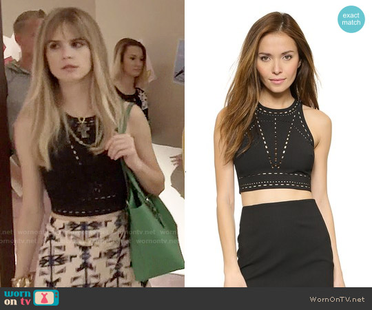 Elizabeth & James New Upton Top worn by Carlson Young on Scream
