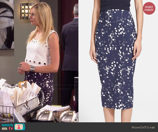 Elizabeth & James Rogen Block Print Skirt worn by Maddie Culpepper on Cristela