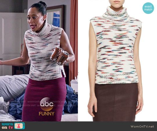 Elizabeth & James Sleeveless Turtleneck worn by Tracee Ellis Ross on Blackish