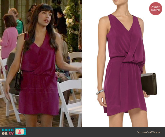 Elizabeth & James Tiana Silk Dress worn by Hannah Simone on New Girl