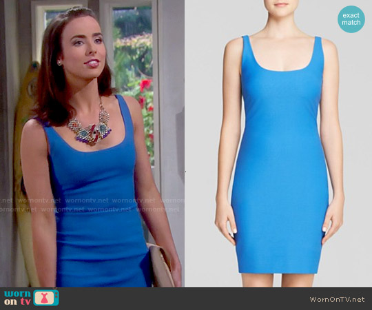 Elizabeth & James Torrance Dress in Lapis worn by Ashleigh Brewer on The Bold & the Beautiful