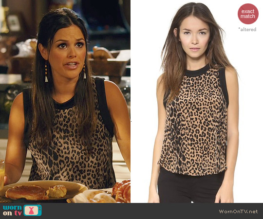 Elizabeth & James Vivi Leopard Print Top worn by Rachel Bilson on Hart Of Dixie