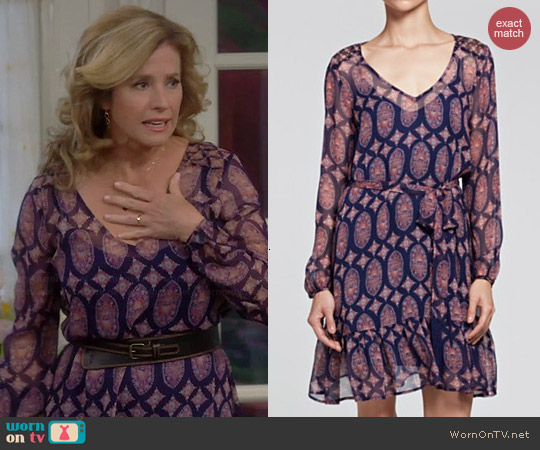 Ella Moss Marigold Dress worn by Nancy Travis on Last Man Standing