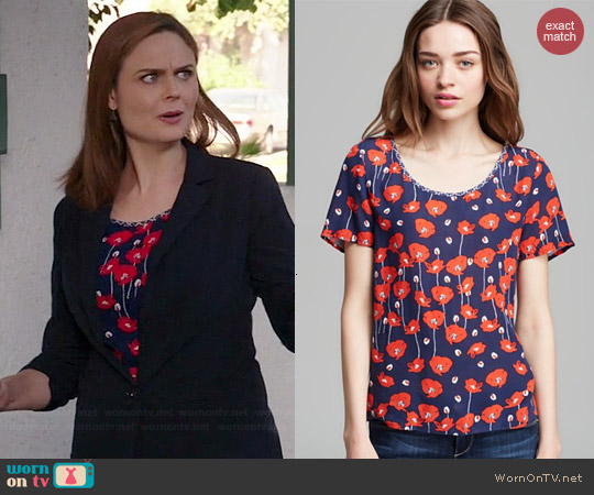 Ella Moss Poppy Fields Top worn by Emily Deschanel on Bones