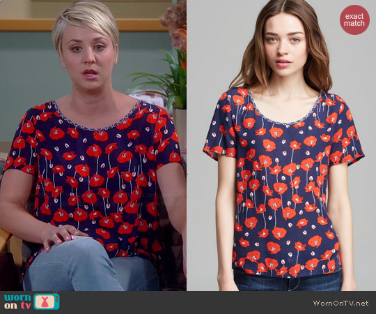 Ella Moss Poppy Fields Top worn by Kaley Cuoco on The Big Bang Theory
