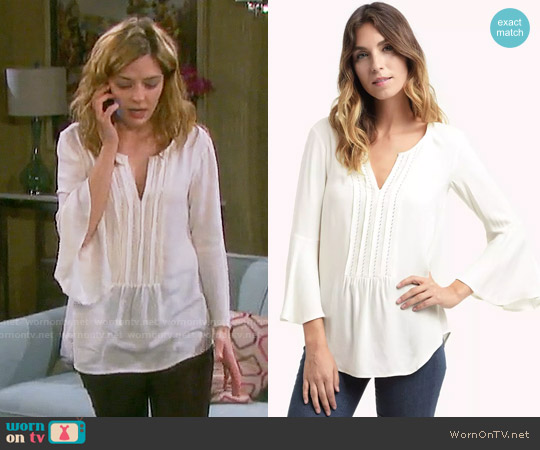 Ella Moss Stella Zig Zag Top worn by Jen Lilley on Days of our Lives