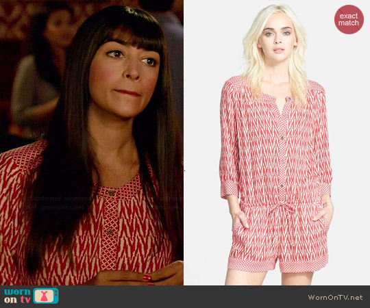 Ella Moss Tempe Romper worn by Hannah Simone on New Girl
