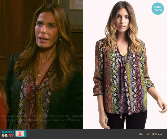Ella Moss Wonderlust Top worn by Kristian Alfonso on Days of our Lives