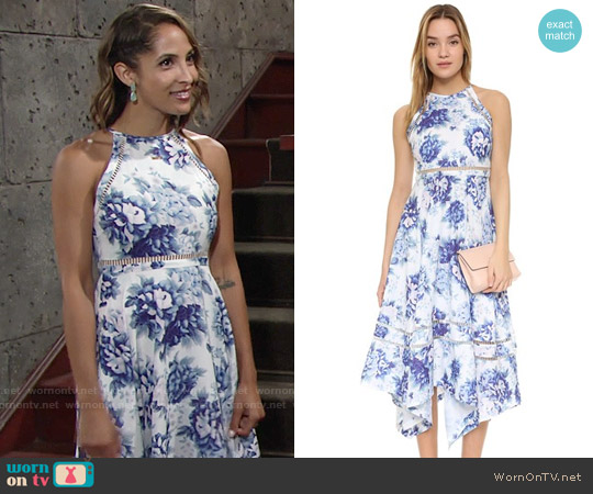 ONE by Elliatt Flourish Dress worn by Christel Khalil on The Young & the Restless