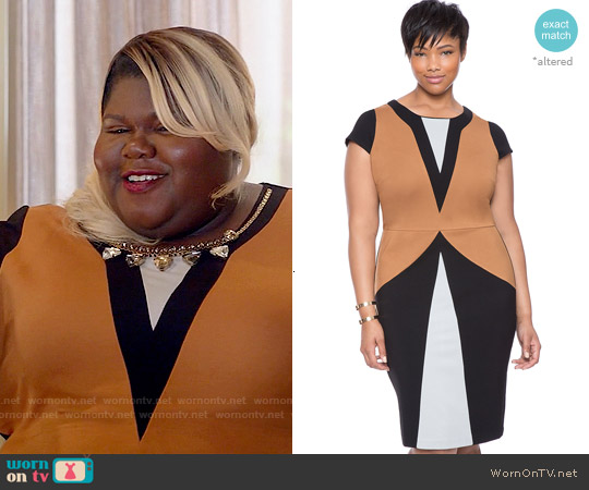 Eloquii Maggi Colorblock Dress worn by Gabourey Sidibe on Empire