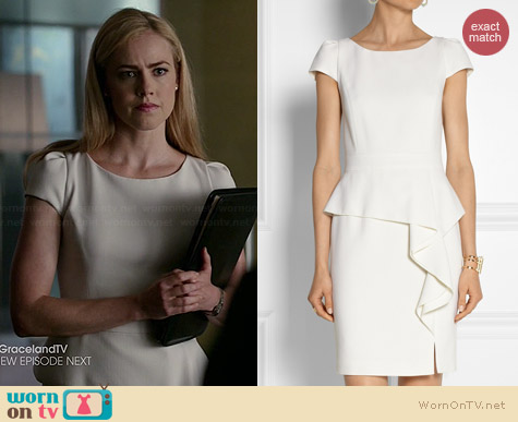 Emilio Pucci Stretch Wool Crepe Mini Dress worn by Amanda Schull on Suits
