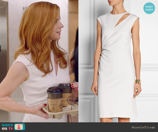 Emilio Pucci Cutout Stretch Wool Crepe Dress worn by Sarah Rafferty on Suits