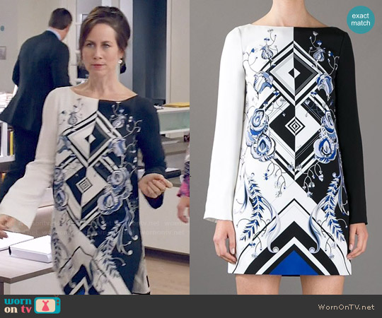 Emilio Pucci Jazz Print Dress worn by Miriam Shor on Younger