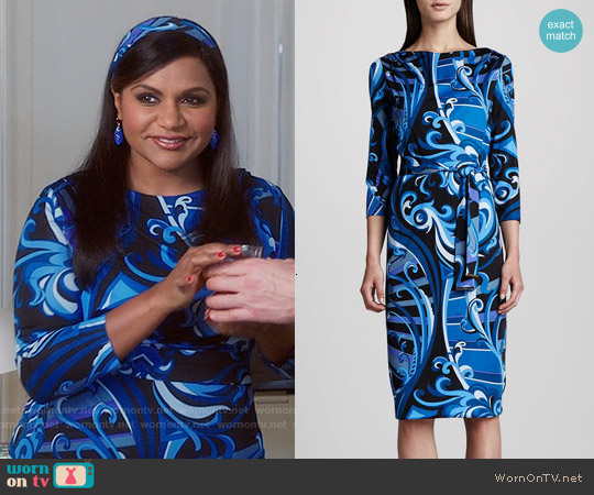 Emilio Pucci Marilyn Dress worn by Mindy Kaling on The Mindy Project