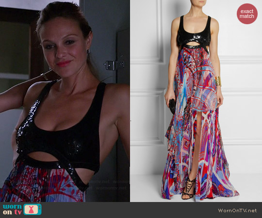 Emilio Pucci Sequin Embellished Gown worn by Beau Garrett on GG2D