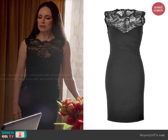 Emilio Pucci Black Lace Dress worn by Madeleine Stowe on Revenge