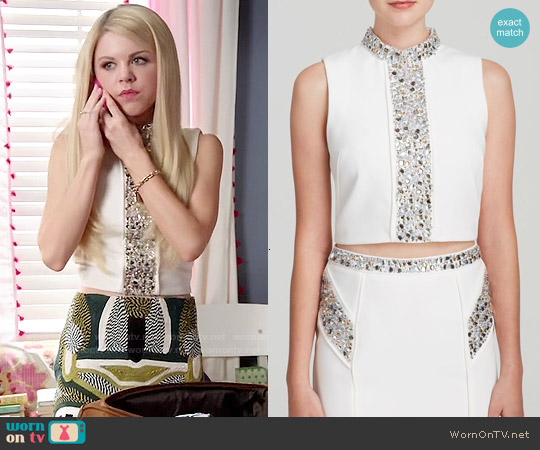 Endless Rose Embellished Top worn by Bailey Buntain on Faking It