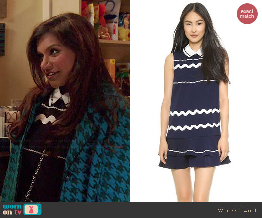 Endless Rose Nantucket Swirl Dress worn by Mindy Kaling on The Mindy Project