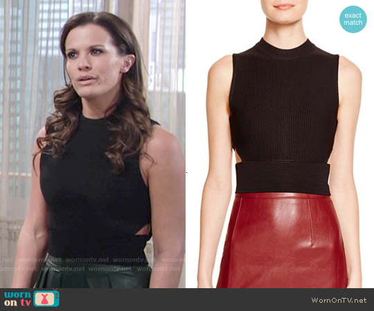Endless Rose Sleeveless Cutout Top worn by Melissa Claire Egan on The Young & the Restless