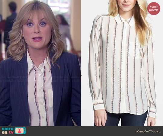 Equipment Brett Blouse in Experimental Stripe worn by Amy Poehler on Parks & Rec