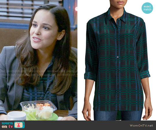 Equipment Daddy Plaid Blouse worn by Melissa Fumero on Brooklyn Nine-Nine