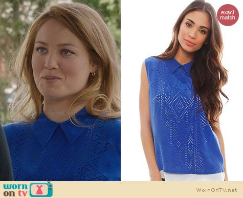 Equipment Elliot Laser Cut Blouse worn by Erika Christensen on Parenthood
