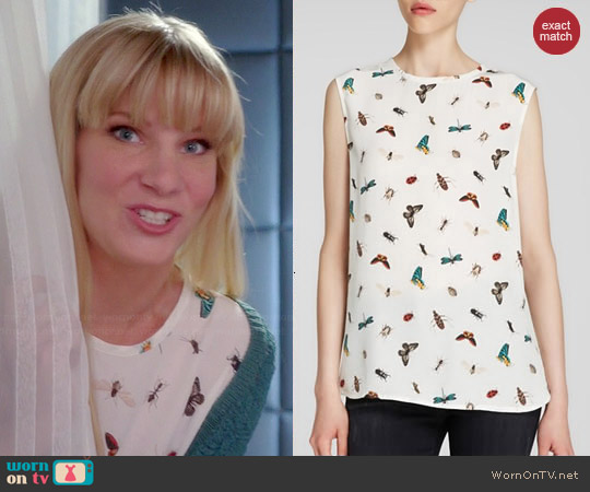 Equipment Kyle Top in Nature White worn by Heather Morris on Glee
