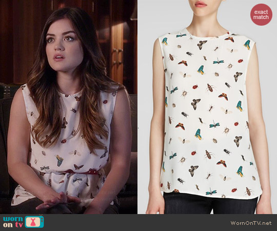 Equipment Kyle Top in Nature White worn by Lucy Hale on PLL