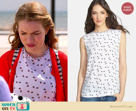Equipment Kyle Wandering Ladybug Top worn by Willa Fitzgerald on Royal Pains