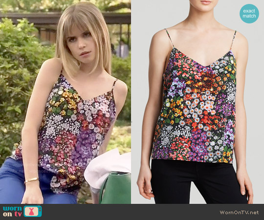 Equipment Lively Floral Layla Silk Cami worn by Carlson Young on Scream