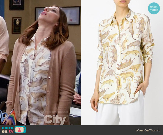 Equipment Leopard Print Shirt worn by Chelsea Peretti on Brooklyn Nine-Nine