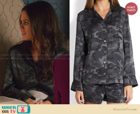 Equipment Lillian Pajamas in camo worn by Rachel Bilson on Hart of Dixie