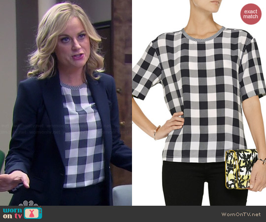 Equipment Logan Gingham Top worn by Amy Poehler on Parks & Rec