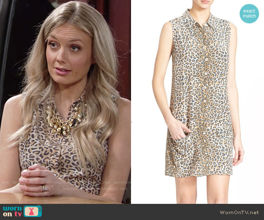 Equipment Lucida Leopard Shirtdress worn by Melissa Ordway on The Young & the Restless