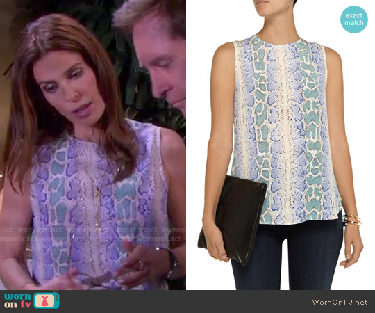 Equipment Lyle Snake Print Top worn by Kristian Alfonso on Days of our Lives
