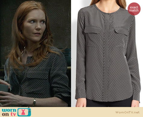 Equipment Lynn Blouse worn by Darby Stanchfield on Scandal
